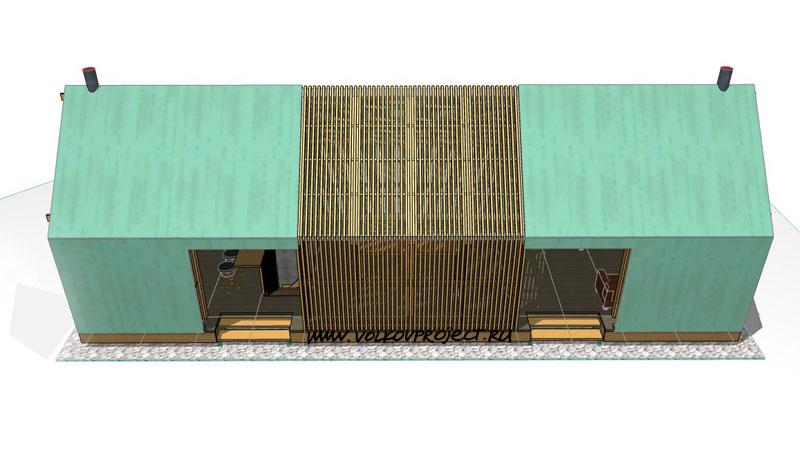проект деревянной беседки | фото, вид от дома