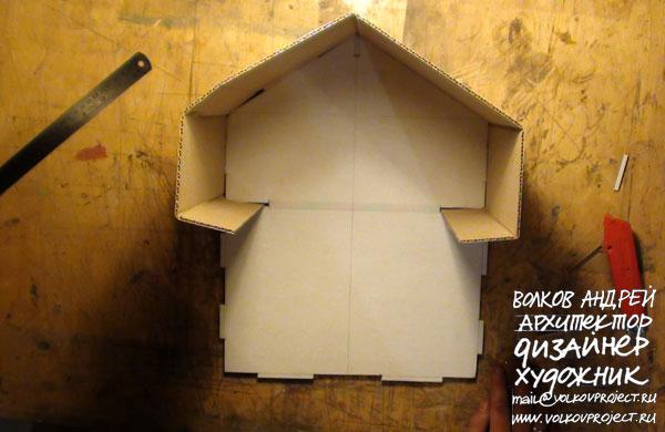 как укрепить картонный домик