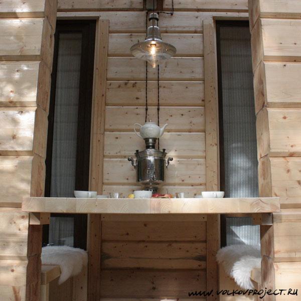 Дачный ответ. Баня за стеклом. Архитектор Андрей Волков